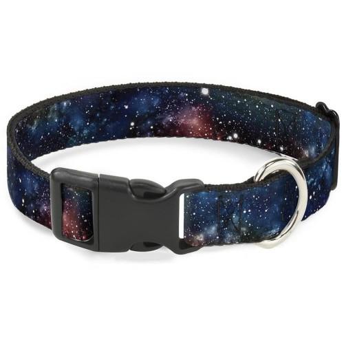 """Galaxy - Ошейник для собак с пластиковой застёжкой """"Галактика мультицвет"""""""