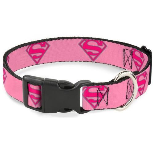 """Superman - Ошейник для собак с пластиковой застёжкой """"Супермен розовый"""""""