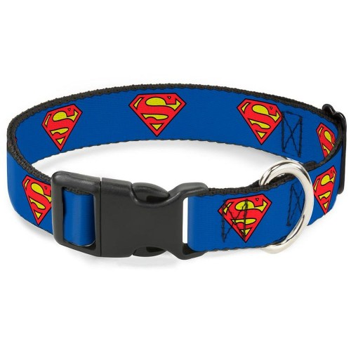 """Superman - Ошейник для собак с пластиковой застёжкой """"Супермен синий"""""""