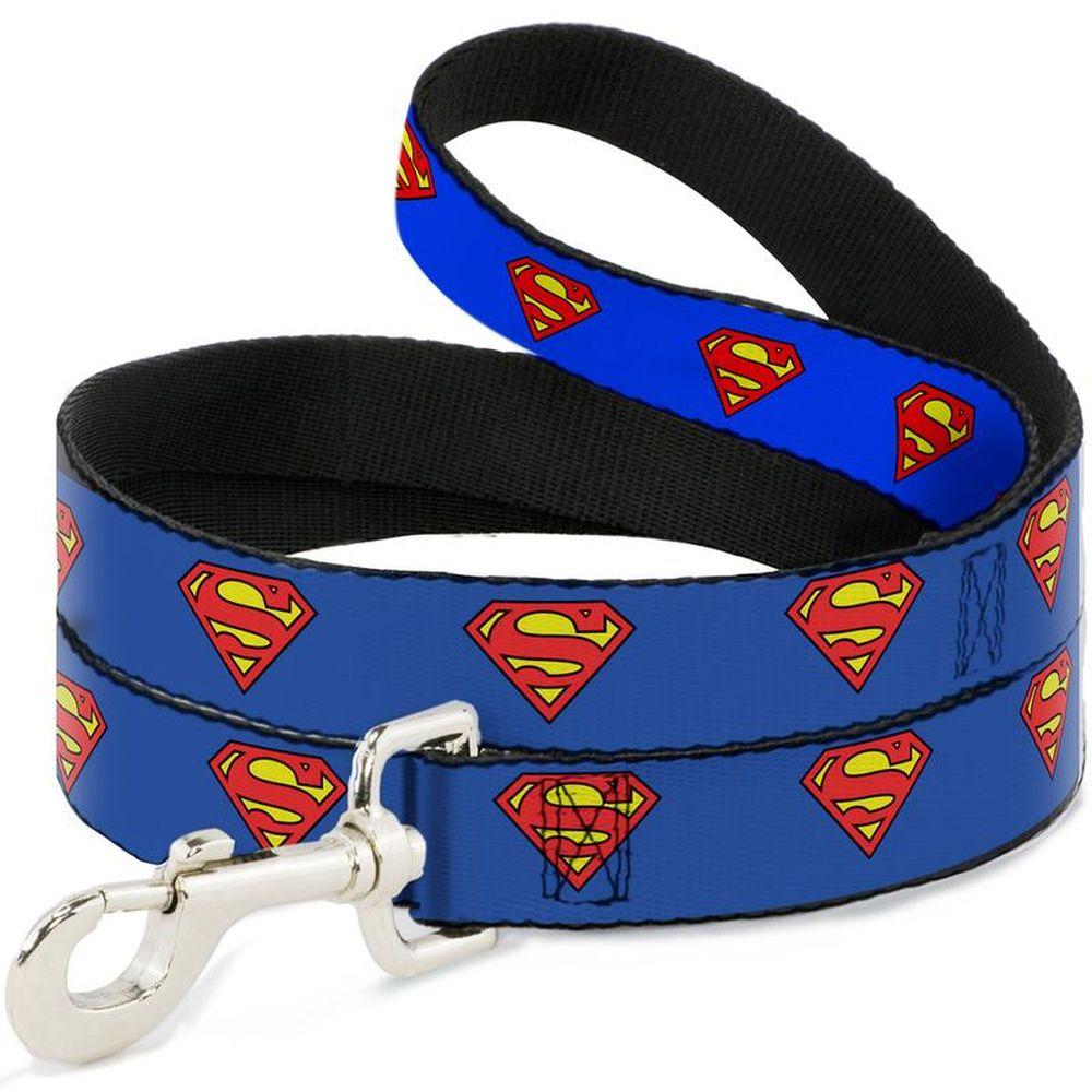 """Buckle-Down Superman - Поводок для собак """"Супермен синий"""""""