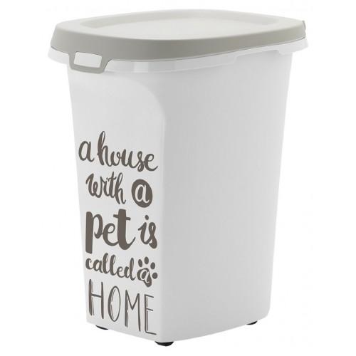 Pet Wisdom - Контейнер для корма серый