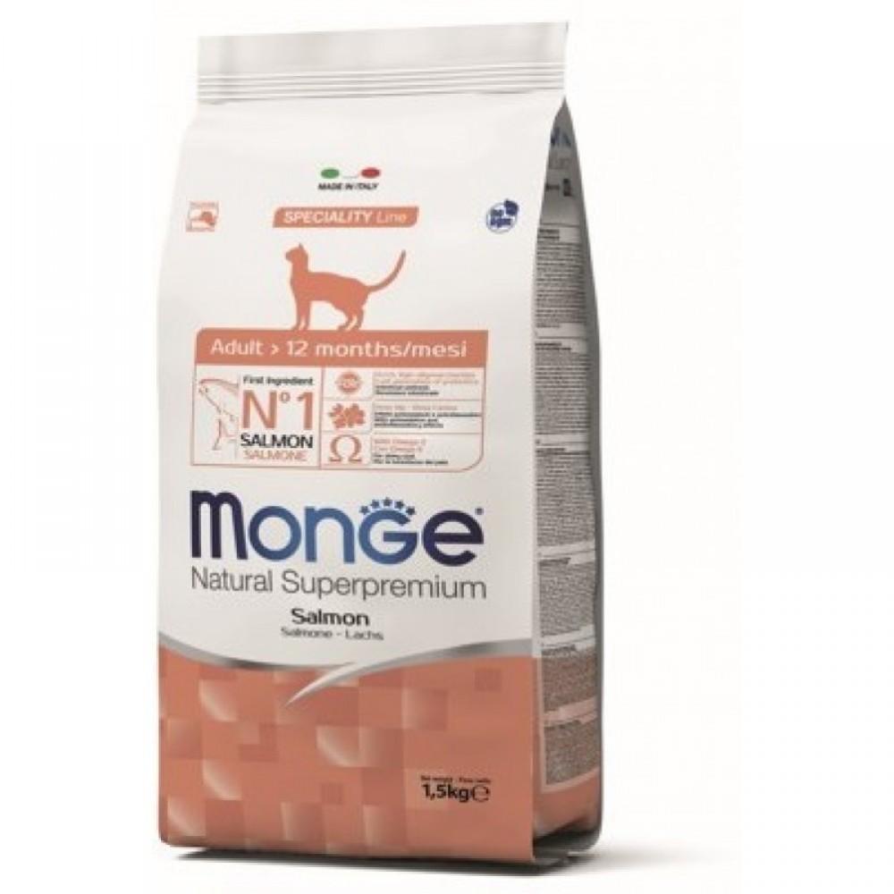 Monge Cat - Корм для взрослых кошек с лососем