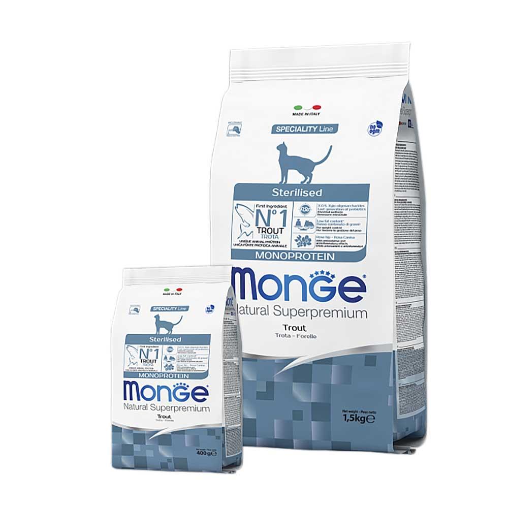 Monge Cat Monoprotein Sterilised Trout - Корм для стерилизованных кошек с форелью