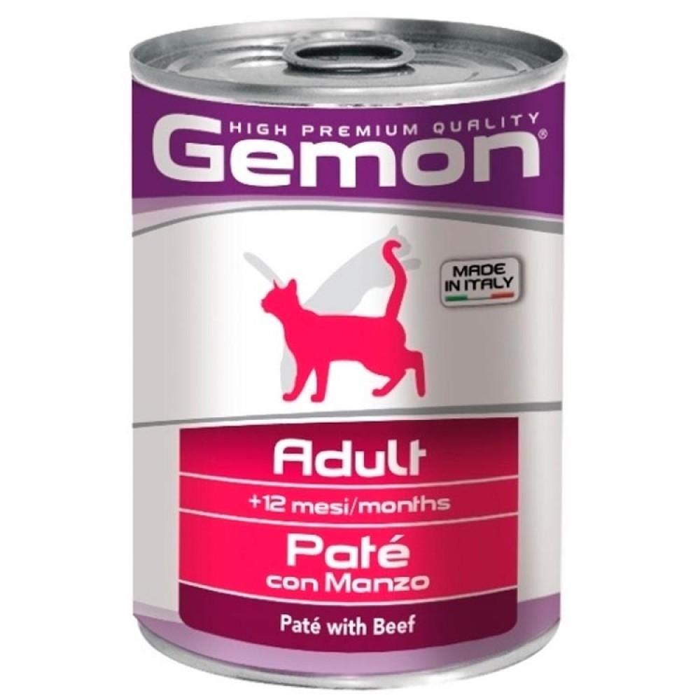 Monge Gemon Cat - Консервы для кошек с кусочками говядины