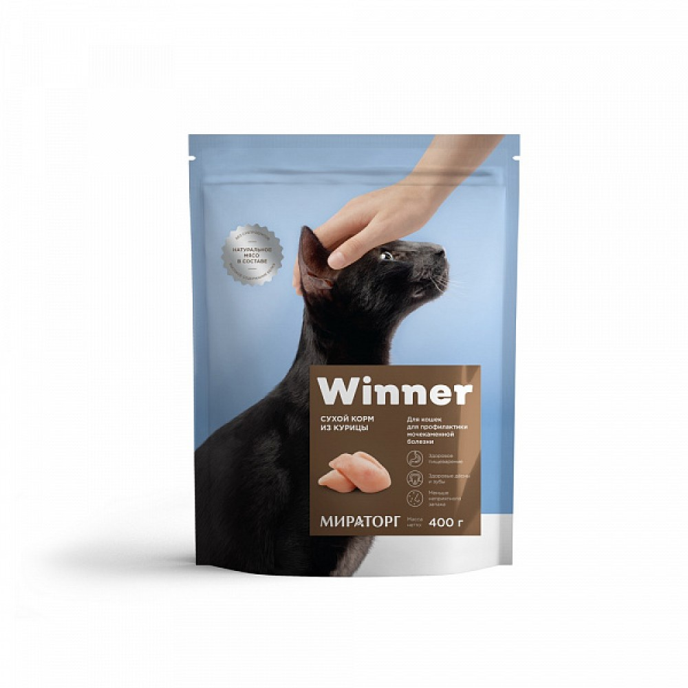 Winner Мираторг - Сухой корм для кошек с мочекаменной болезнью
