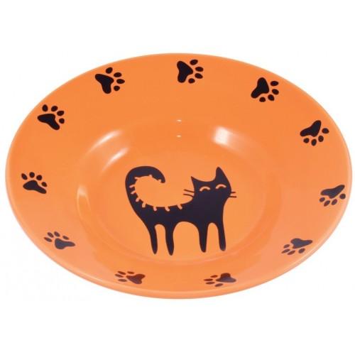 Миска керамическая-блюдце для кошек 140 мл