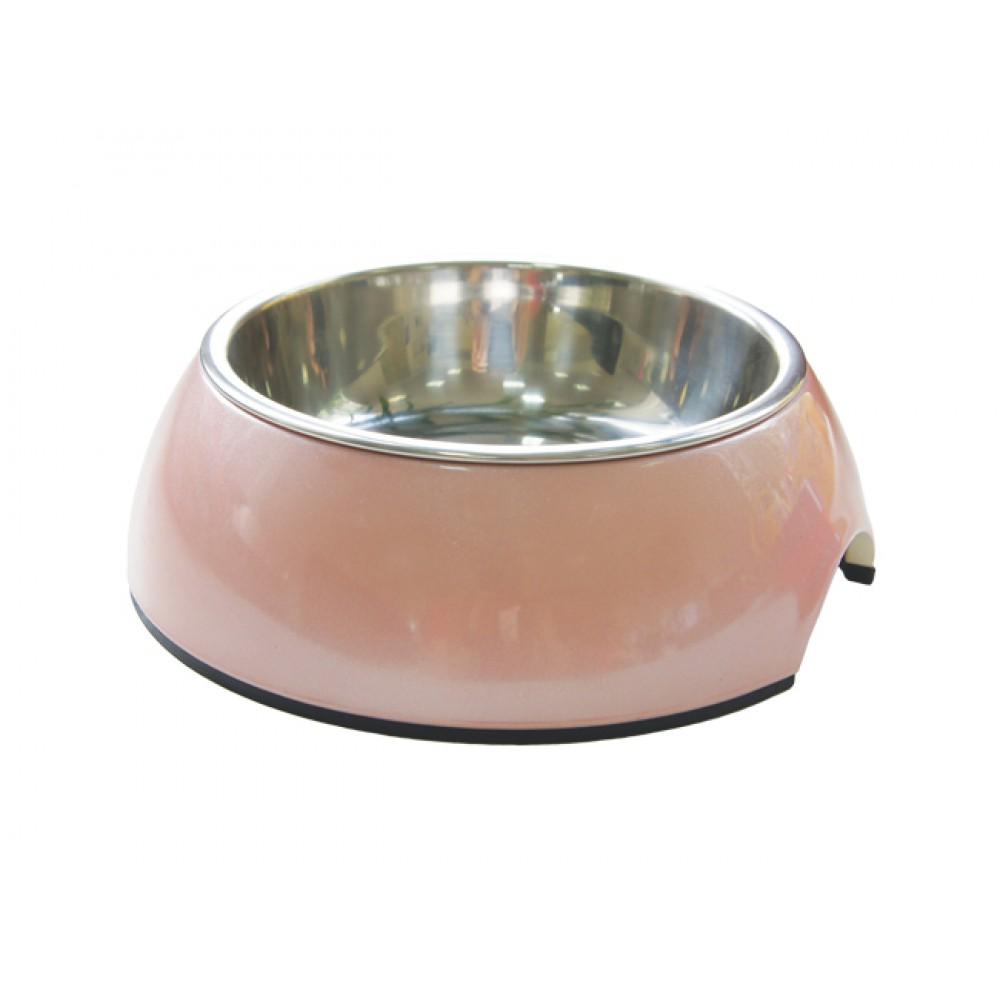 """Superdesign Миска на меламиновой подставке """"Розовый перламутр"""""""