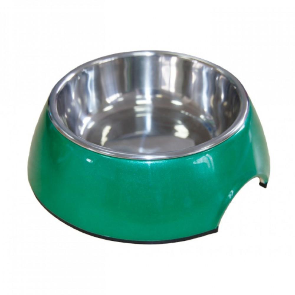 """Superdesign Миска на меламиновой подставке """"Зеленый перламутр"""""""