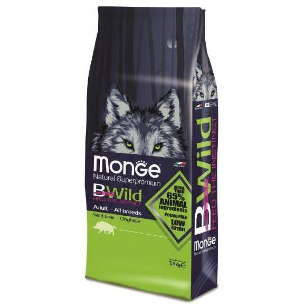 Monge Bwild Dog Boar - Корм для взрослых собак всех пород с мясом дикого кабана