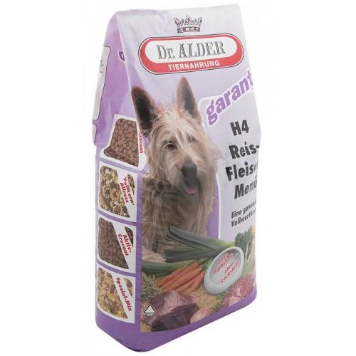 """H4 Rice-Meat Menu - Сухой корм для собак с нормальной активностью и чувствительным пищеварением """"Доктор Алдерс Н-4 Рисо-Мясное Меню"""" (говядина с рисом)"""