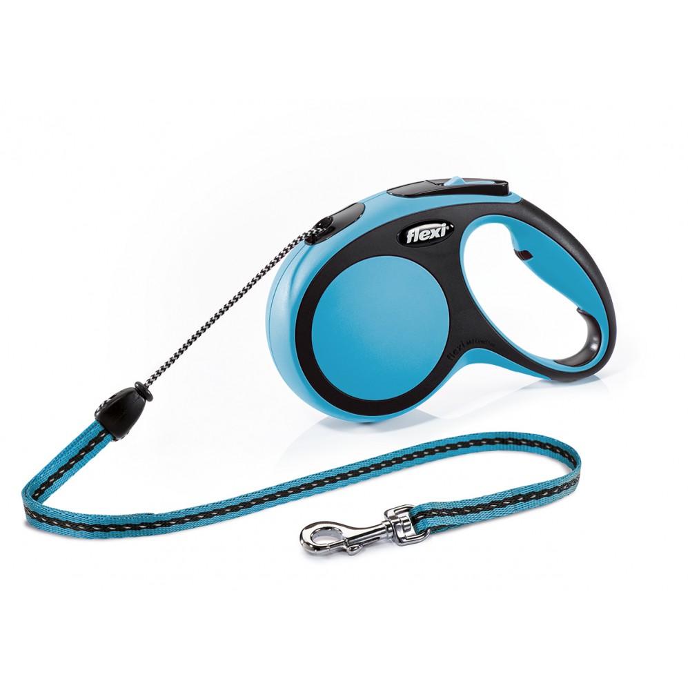 """Flexi New Comfort - """"Флекси Комфорт"""" рулетка трос для собак, черный/синий (5 м)"""