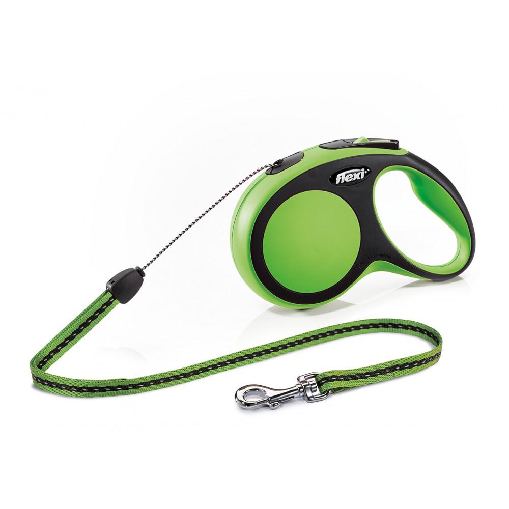 """Flexi New Comfort - """"Флекси Комфорт"""" рулетка трос для собак, черный/зеленый (8 м)"""
