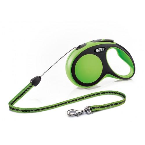 """New Comfort - """"Флекси Комфорт"""" рулетка трос для собак, черный/зеленый (8 м)"""