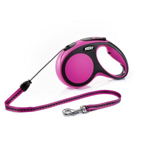"""New Comfort - """"Флекси Комфорт"""" рулетка трос для собак, черный/розовый (5 м)"""