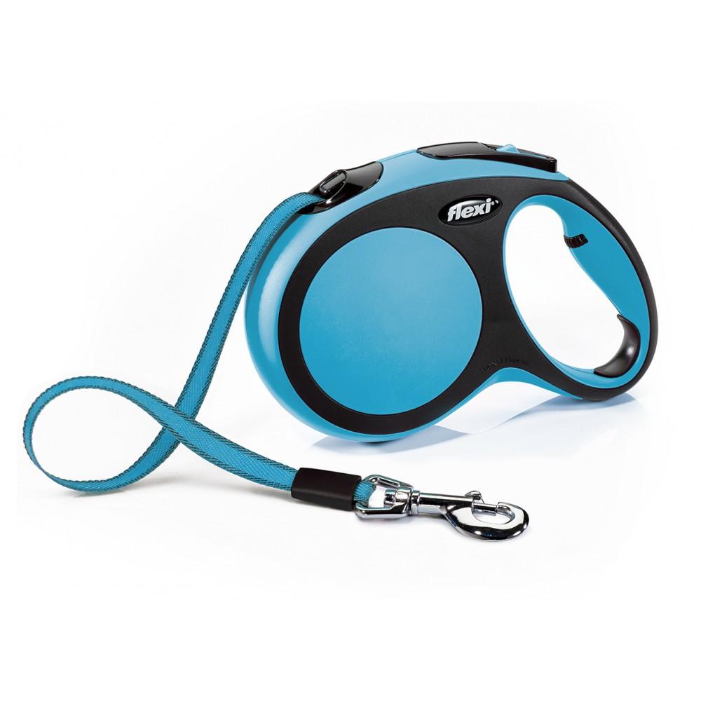 """Flexi New Comfort - """"Флекси Комфорт"""" рулетка лента для собак, черный/синий (5 м)"""