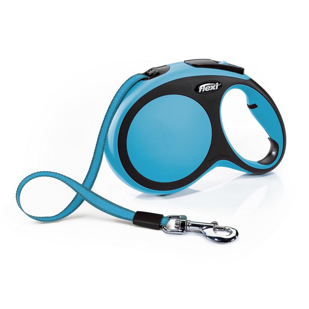 """Flexi New Comfort - """"Флекси Комфорт"""" рулетка лента для собак, черный/синий (8 м)"""