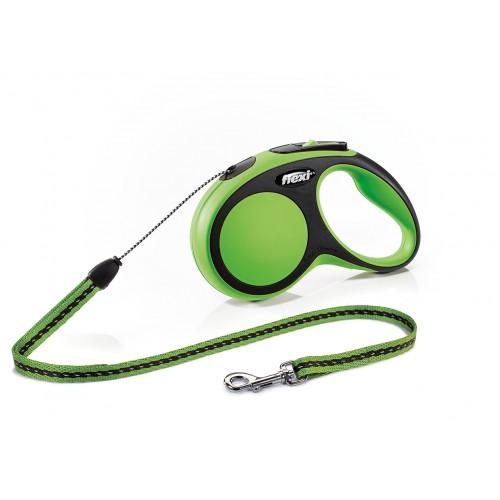 """New Comfort - """"Флекси Комфорт"""" рулетка трос для собак, черный/зеленый (5 м)"""