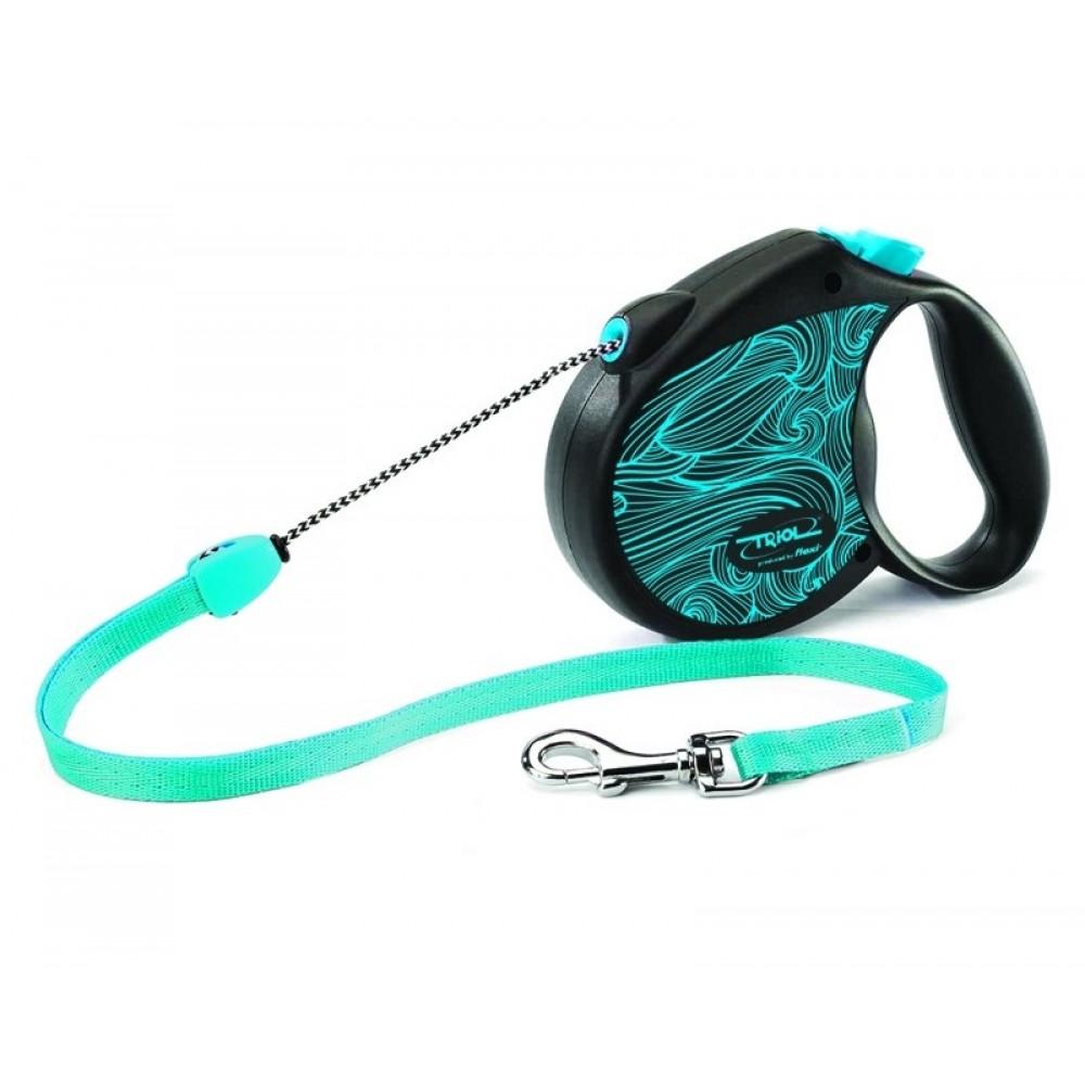 """Flexi Color - """"Флекси Колор"""" рулетка трос для собак голубая (5 м)"""