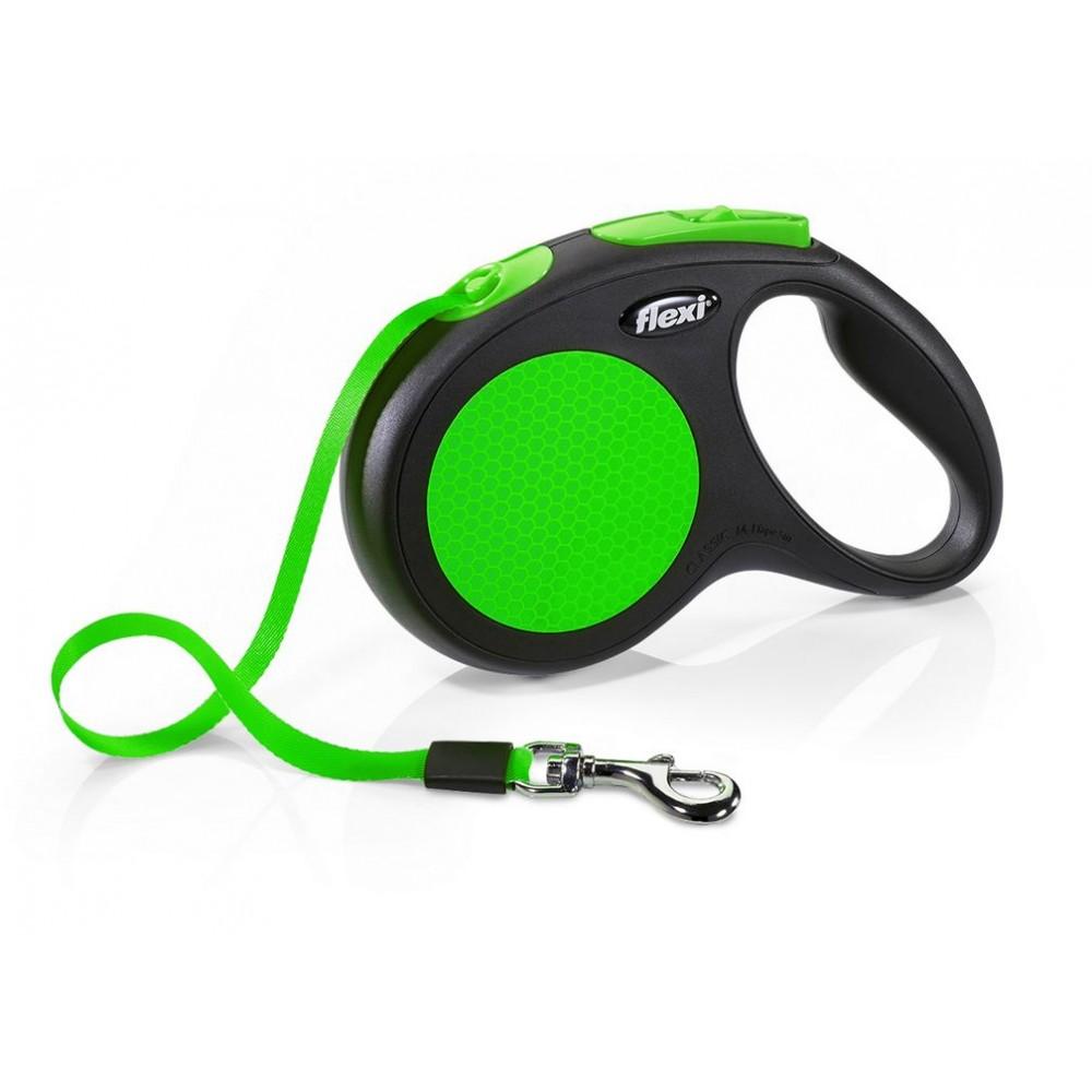 "Flexi Limited Edition New Neon - ""Флекси Неон"" рулетка лента для собак зеленая (5 м)"