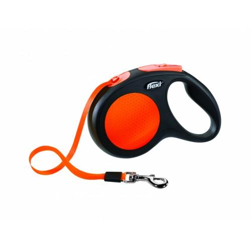 "Limited Edition New Neon - ""Флекси Неон"" рулетка лента для собак оранжевый (5 м)"