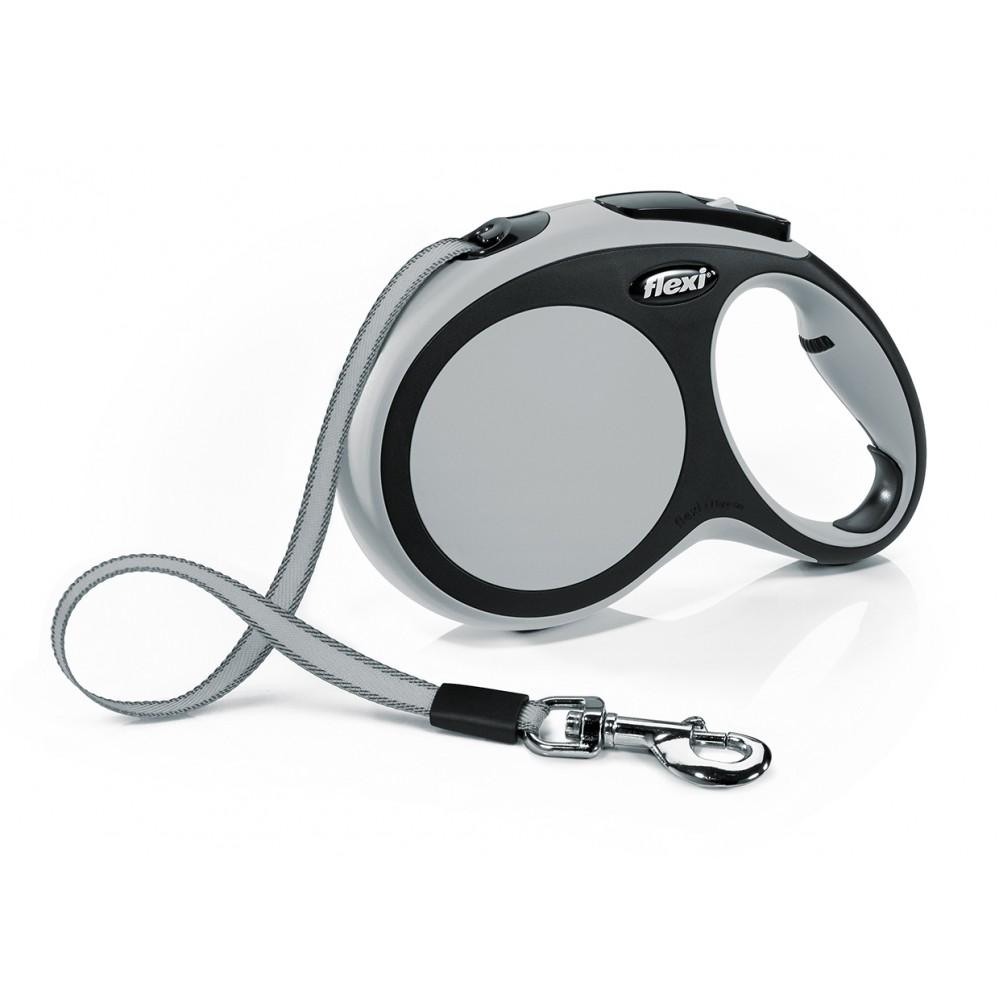 """Flexi New Comfort - """"Флекси Комфорт"""" рулетка лента для собак, черный/антрацит (8 м)"""