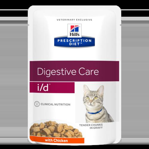 Prescription Diet™ I/D™ - Хиллс диета пауч для кошек (лечение заболеваний ЖКТ) с курицей