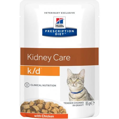 Prescription Diet™ K/D™ - Хиллс диета пауч для кошек (лечение заболеваний почек) с курицей