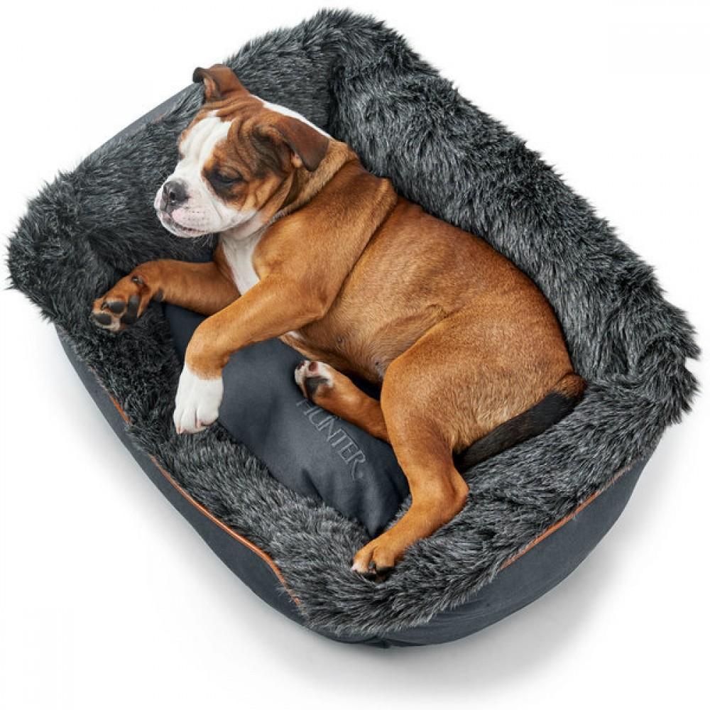 Hunter Hunter софа для собак Bergamo 80х60 см, хлопок/полиестер, антрацит