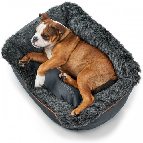 Hunter софа для собак Bergamo 80х60 см, хлопок/полиестер, антрацит