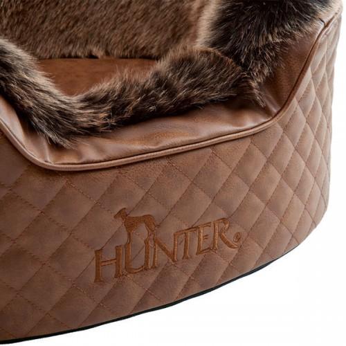 Hunter софа для собак Gotland 60х50 см, искусственная кожа/плюш, черный