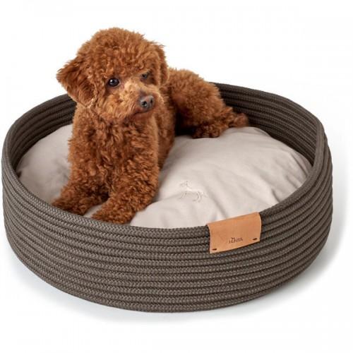 Hunter корзина-софа для собак Graz 50х50 см, плетение, темно-серый