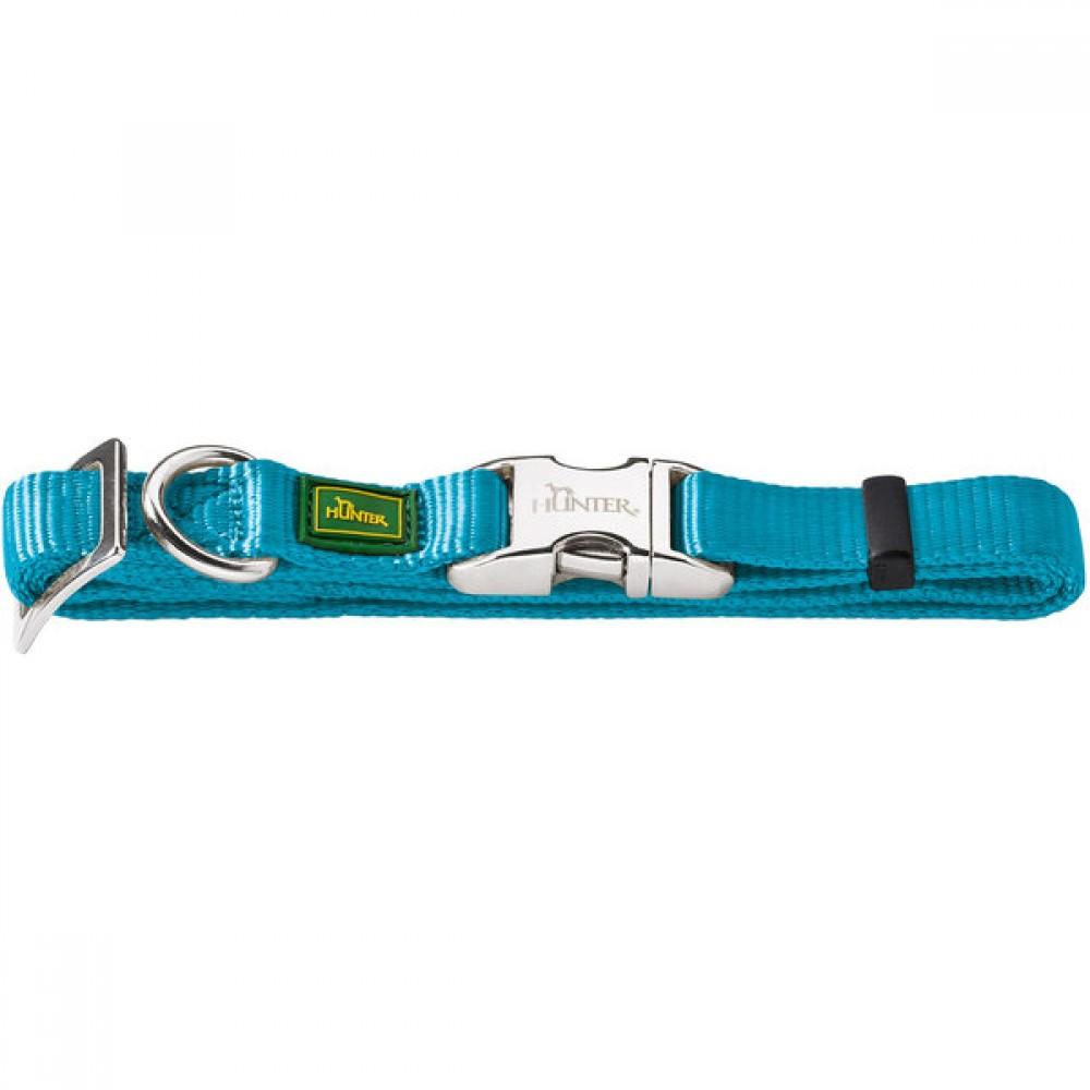 Hunter ALU-Strong - Ошейник для собак нейлоновый с металлической застежкой, бирюзовый