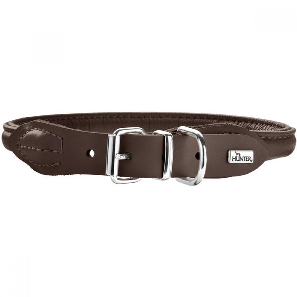 Hunter Round&Soft Elk - Ошейник для собак из кожи лося, коричневый