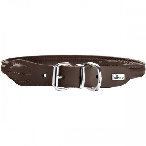 Round&Soft Elk - Ошейник для собак из кожи лося, коричневый