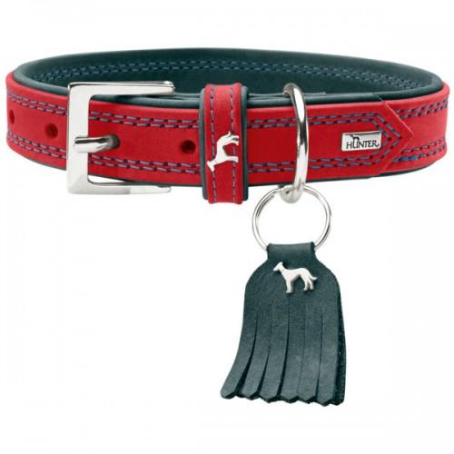 Lucca Petit - Ошейник для собак из натуральной кожи, красный