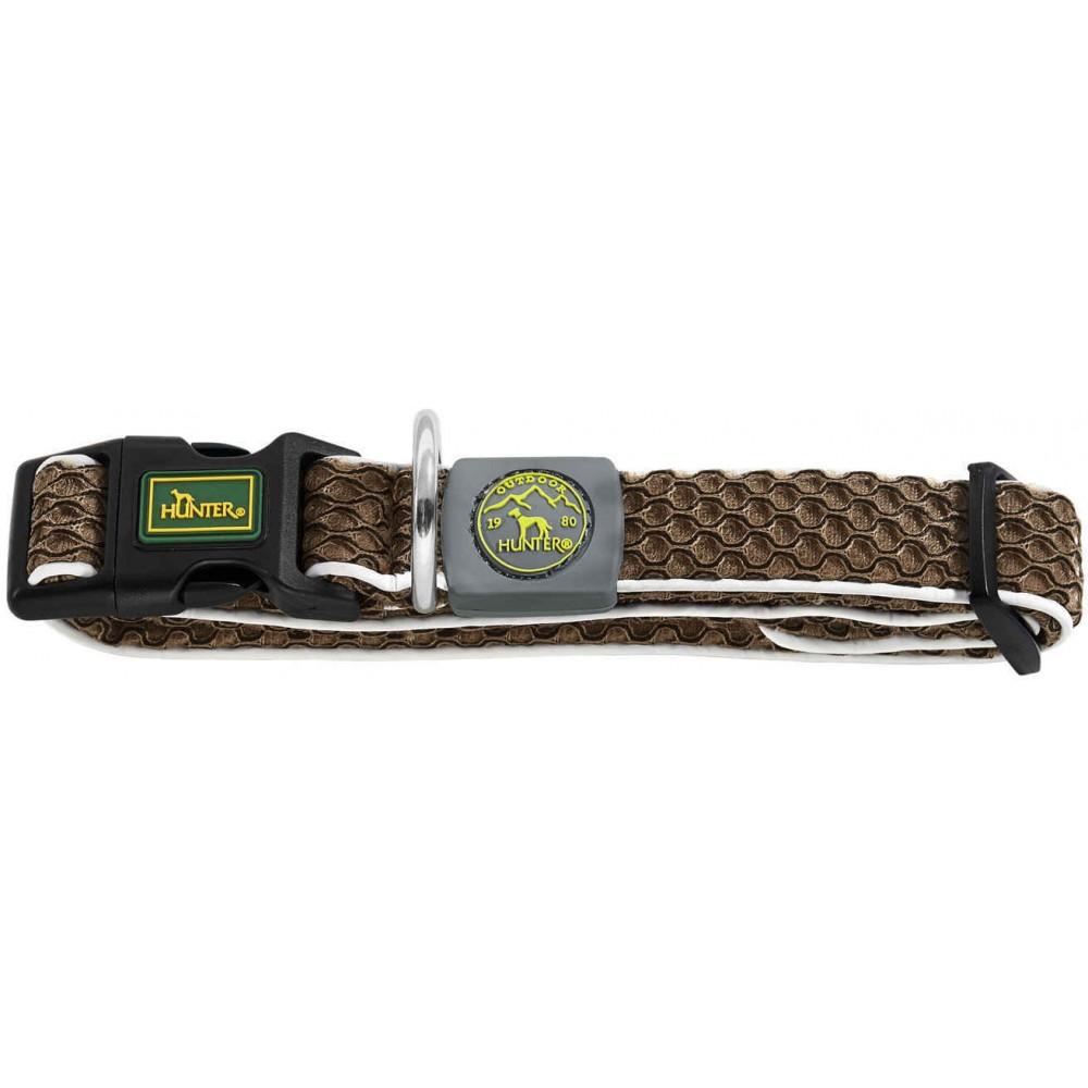 Hunter Hilo Vario Basic - Ошейник для собак коричневый, сетчатый текстиль