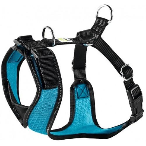 Manoa - Шлейка для собак голубая, нейлон/сетчатый текстиль