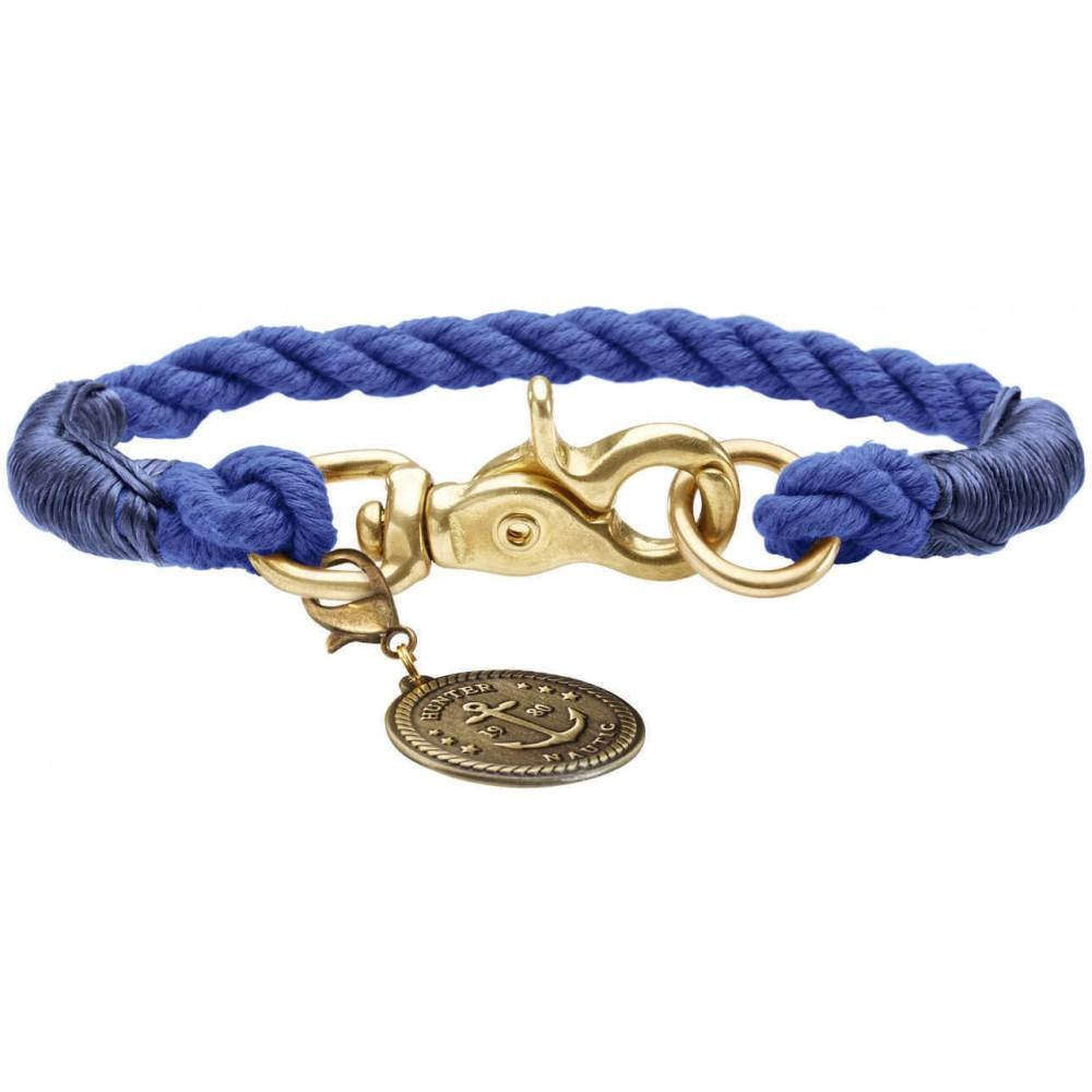 Hunter List - Ошейник для собак темно-синий, текстиль