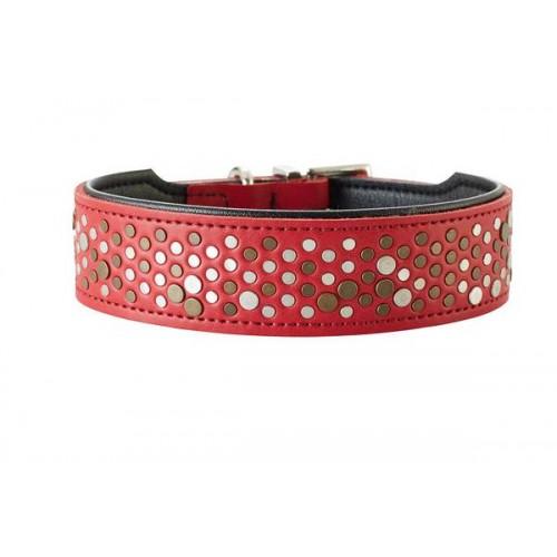 Basic Rivellino - Ошейник для собак из натуральной кожи, красный