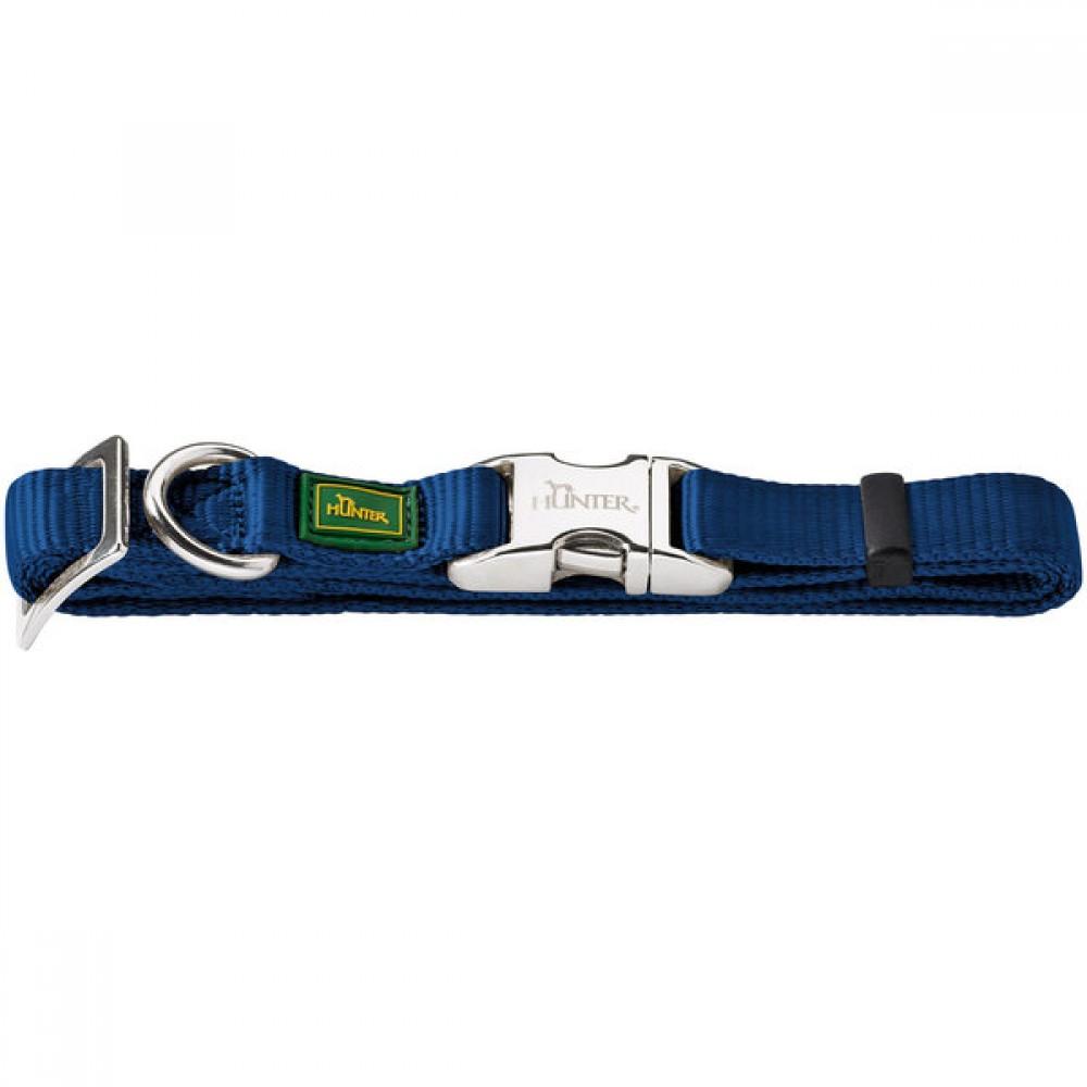 Hunter ALU-Strong - Ошейник для собак нейлоновый с металлической застежкой, темно-синий