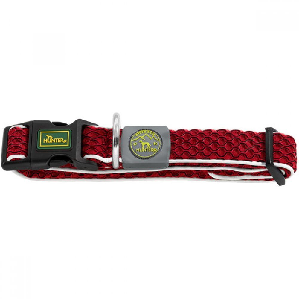 Hunter Hilo Vario Basic - Ошейник для собак красный, сетчатый текстиль