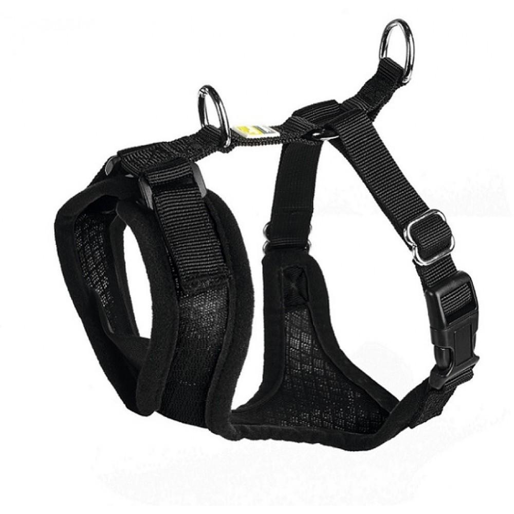 Hunter Manoa - Шлейка для собак черная, нейлон/сетчатый текстиль