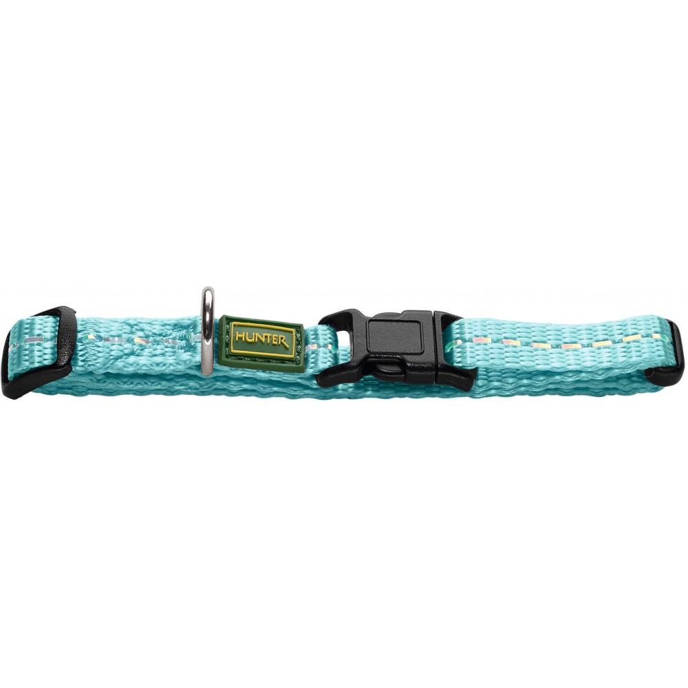 Hunter Tripoli Vario Basic - Ошейник для собак из нейлона, светло-голубой, светоотражающий