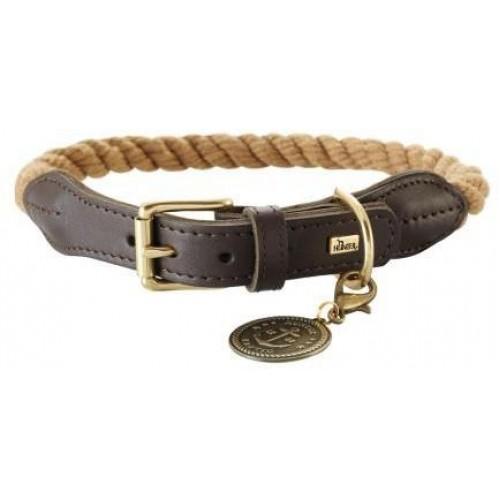 List - Ошейник для собак желтовато-коричневый/шоколадный, текстиль и кожа