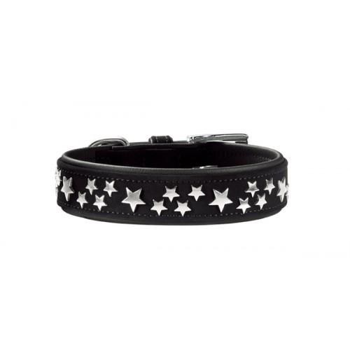 Softie Stars - Ошейник для собак кожзам, черный