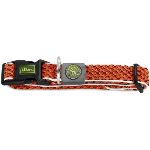 Hilo Vario Basic - Ошейник для собак оранжевый, сетчатый текстиль
