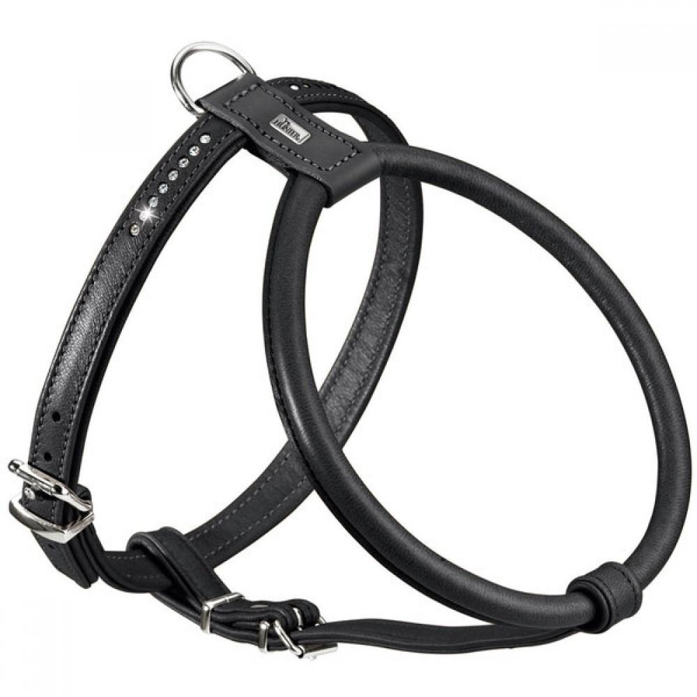 Hunter Round & Soft Luxus Elk Petit - Шлейка для собак из натуральной кожи, черная