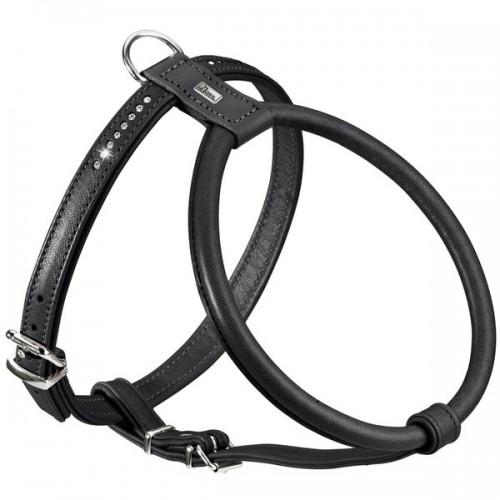 Round & Soft Luxus Elk Petit - Шлейка для собак из натуральной кожи, черная