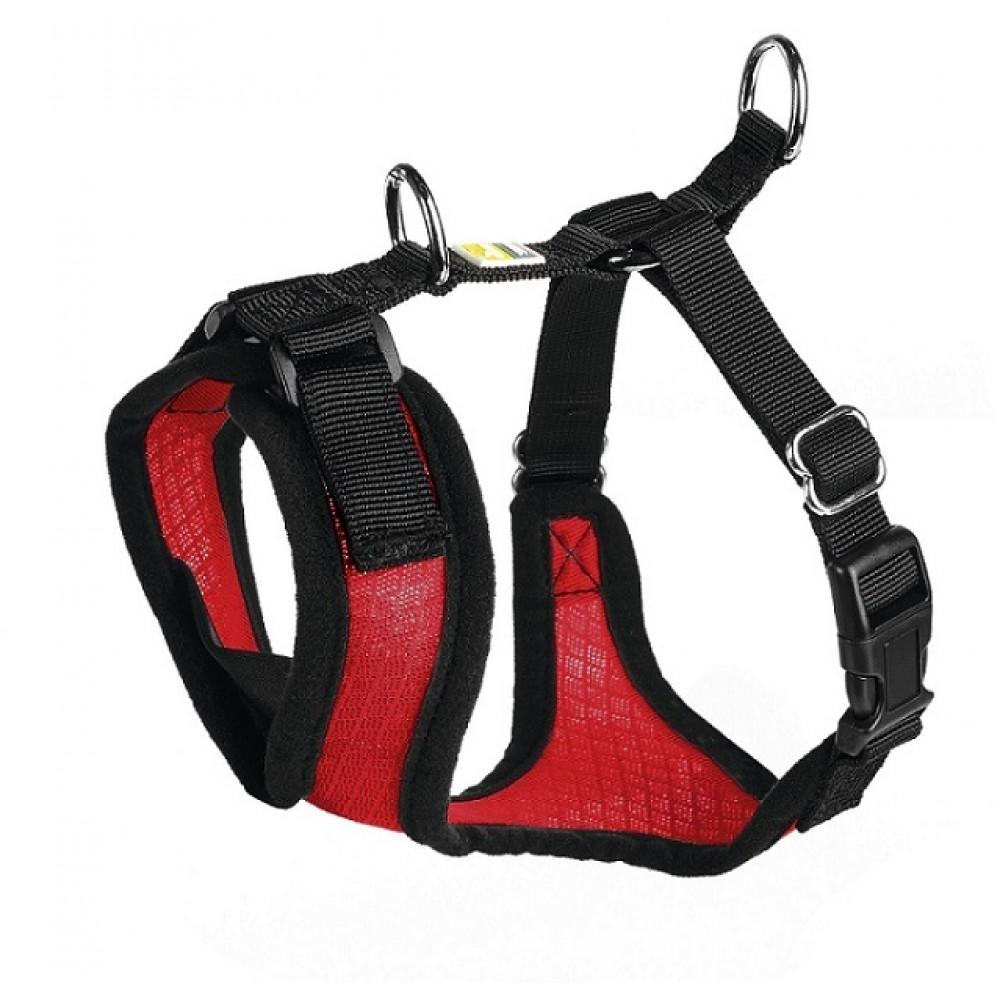 Hunter Manoa - Шлейка для собак красная, нейлон/сетчатый текстиль