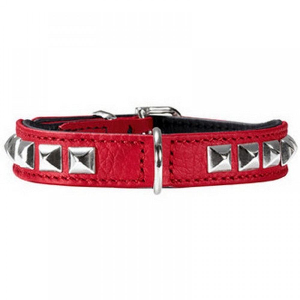 Hunter Rocky petit - Ошейник для собак из натуральной кожи, красный
